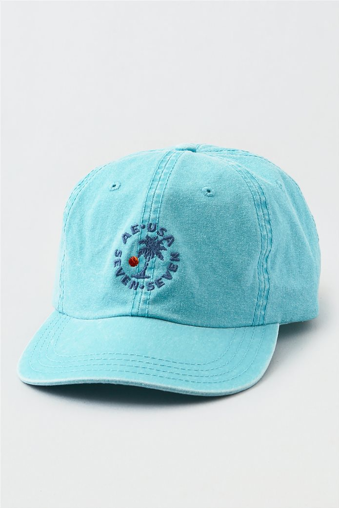 AEO Teal Canvas Baseball Hat 0