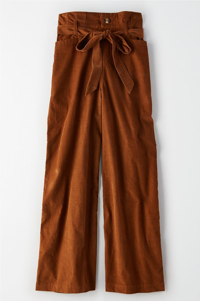 AE High-Waisted Paperbag Wide Leg Pant 0