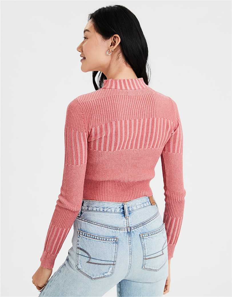 AE Ribbed Mock Neck Pullover Sweater 1