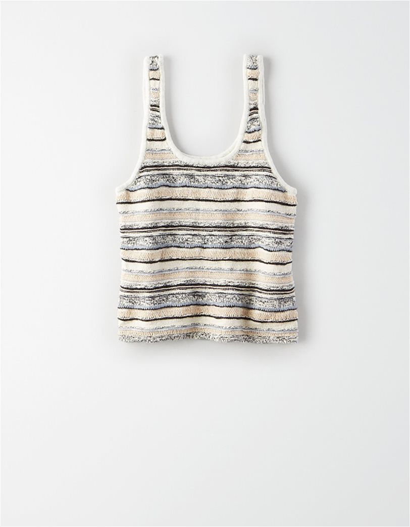 AE Striped Cropped Sweater Tank Top 1