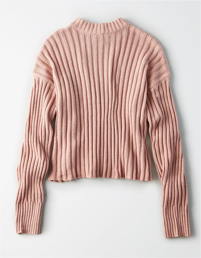 AE Cropped Rib Knit Pullover Sweater 3