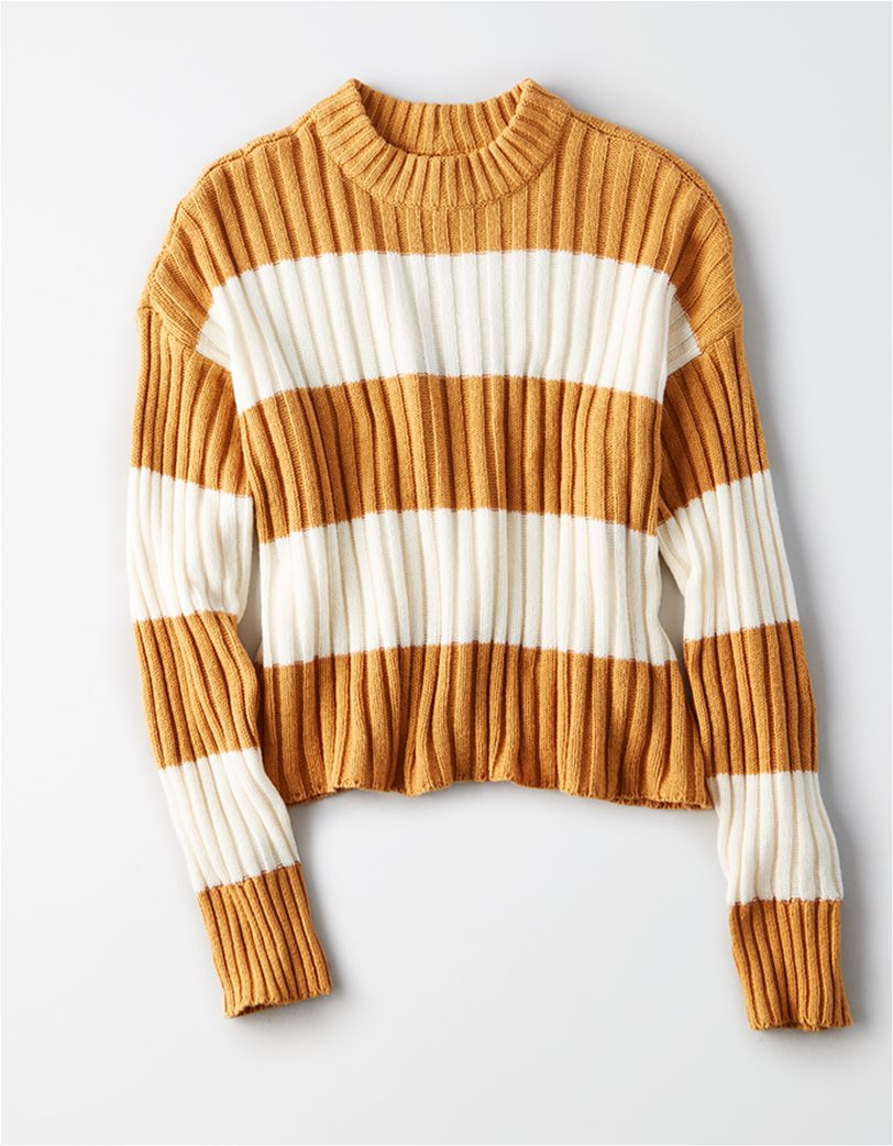 AE Rugby Stripe Rib Knit Pullover Sweater 2