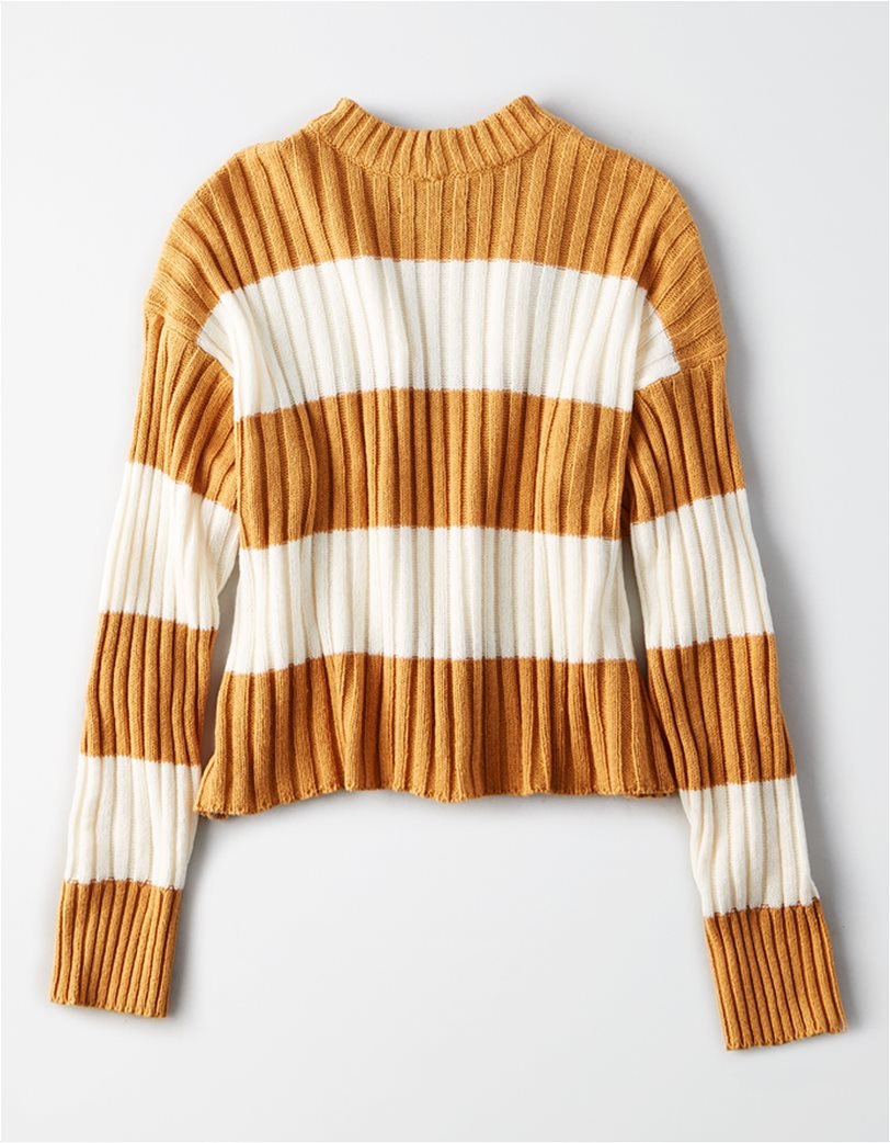 AE Rugby Stripe Rib Knit Pullover Sweater 3