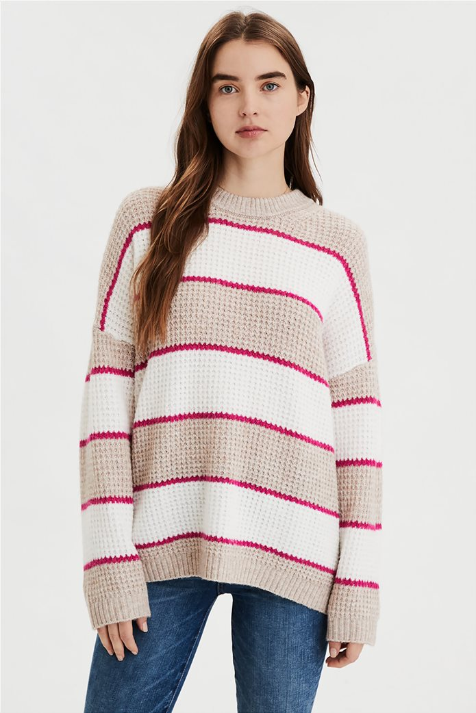 AE Striped Oversized Sweater 0