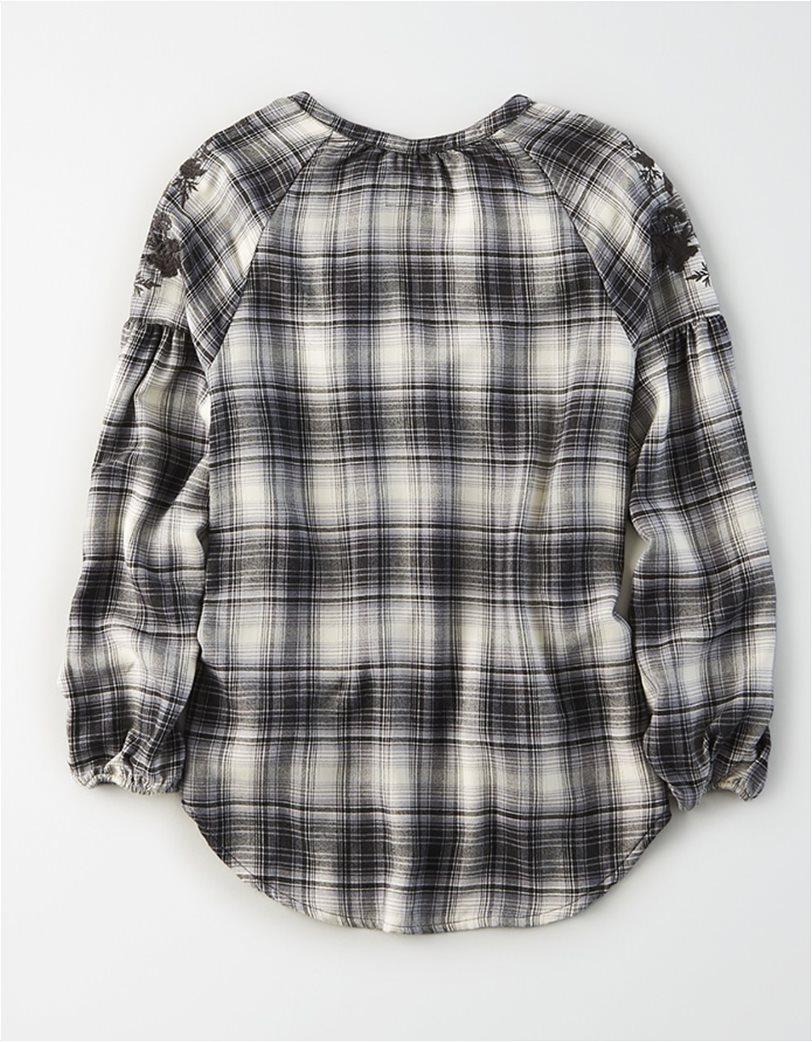 AE Plaid Embroidered Shirt 1