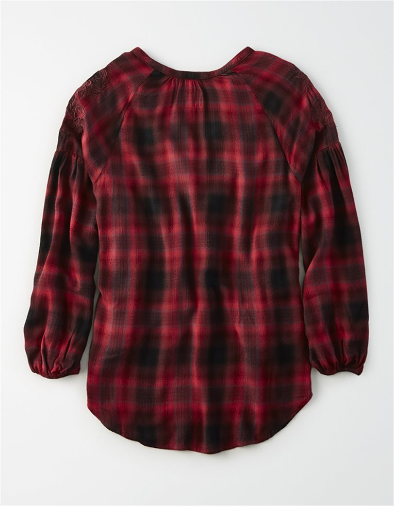 AE Plaid Embroidered Shirt 1
