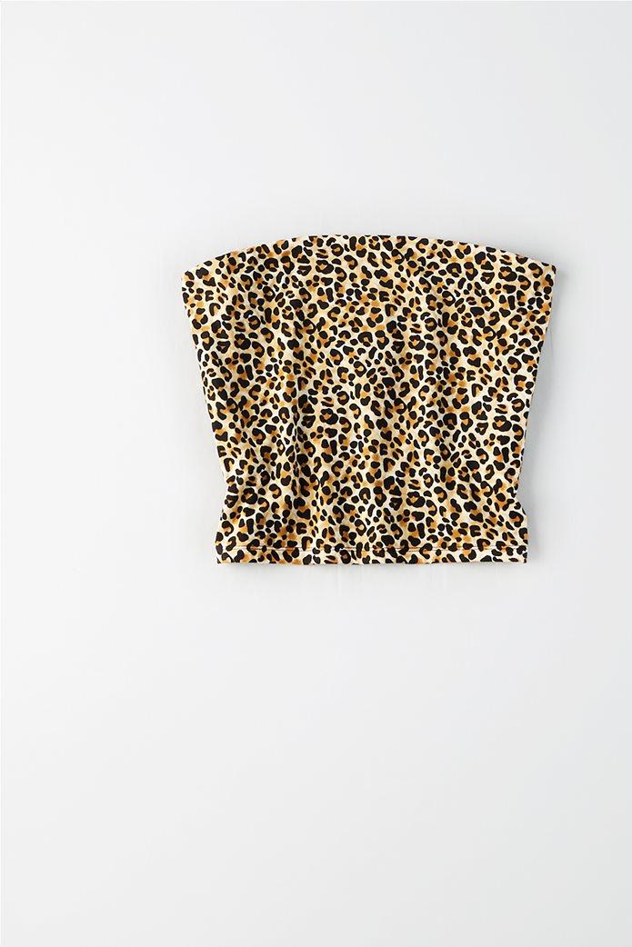 AEO Leopard Print Tube Top Μπεζ 2