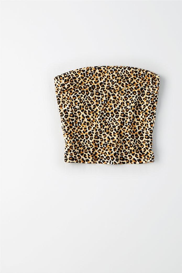 AEO Leopard Print Tube Top Μπεζ 3