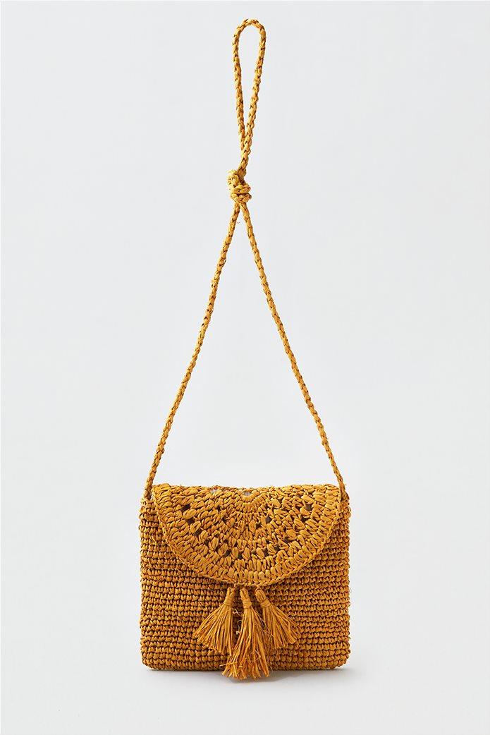 AEO Paper Straw Crossbody Bag 0