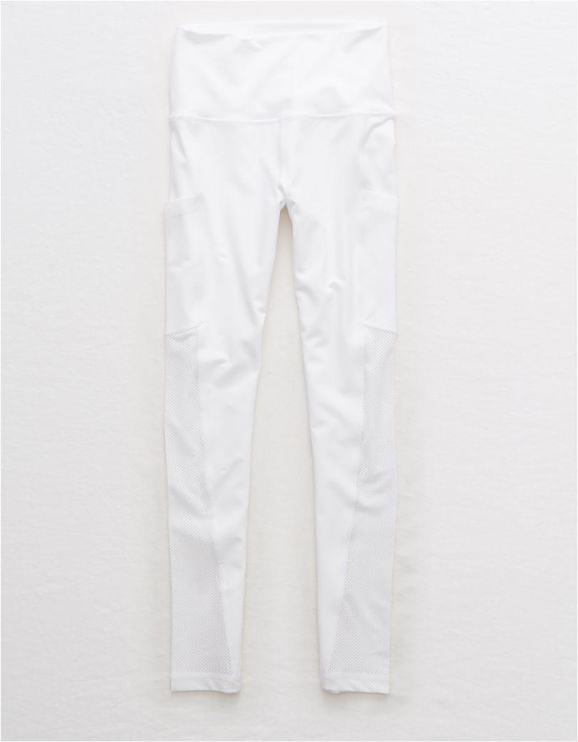 Aerie Move High Waisted Pocket 7/8 Legging Λευκό 2