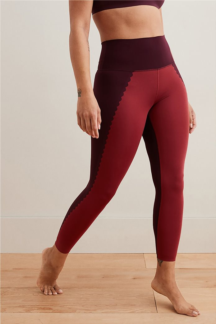Aerie Play Scallop High Waisted 7/8 Legging Μπορντό 0