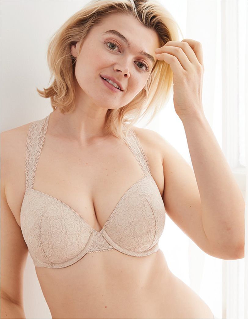 Aerie Real Happy Lightly Lined Bra Nude 2
