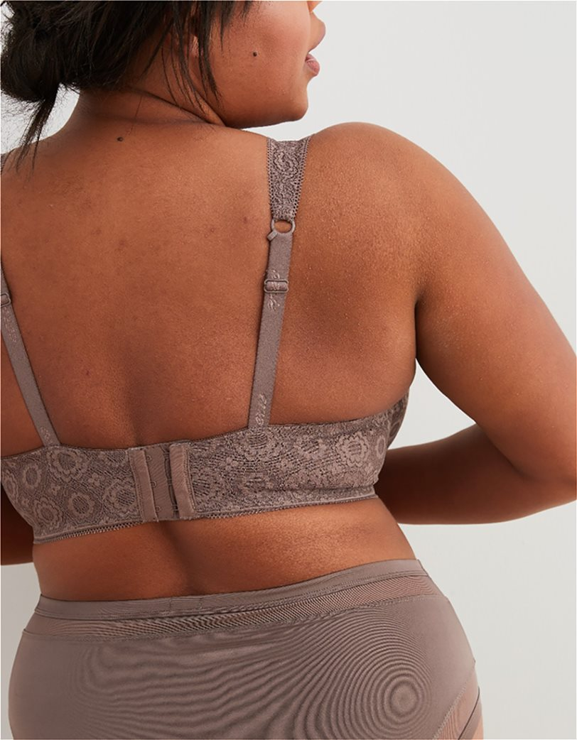 Aerie Real Happy Lightly Lined Bra Καφέ 1