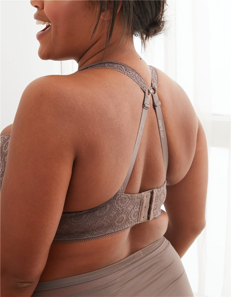 Aerie Real Happy Lightly Lined Bra Καφέ 2