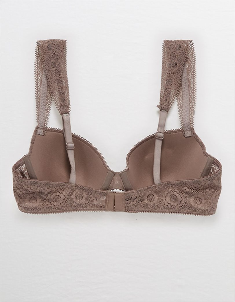 Aerie Real Happy Lightly Lined Bra Καφέ 4