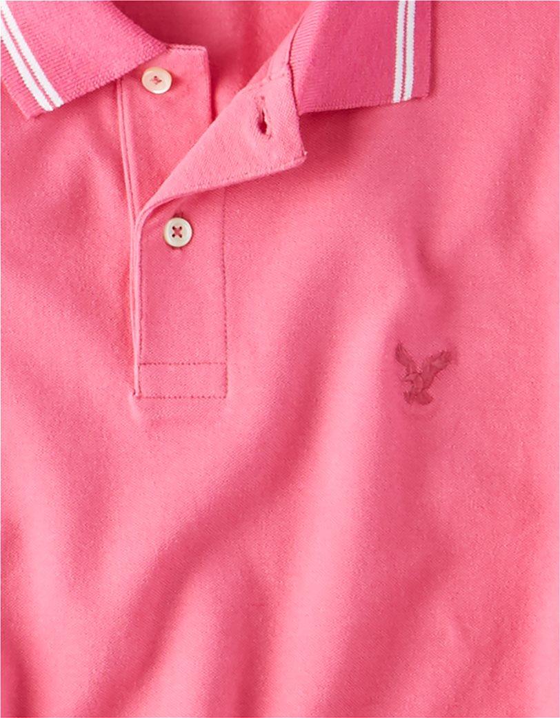 AE Logo Pique Tipped Striped Polo Shirt 2