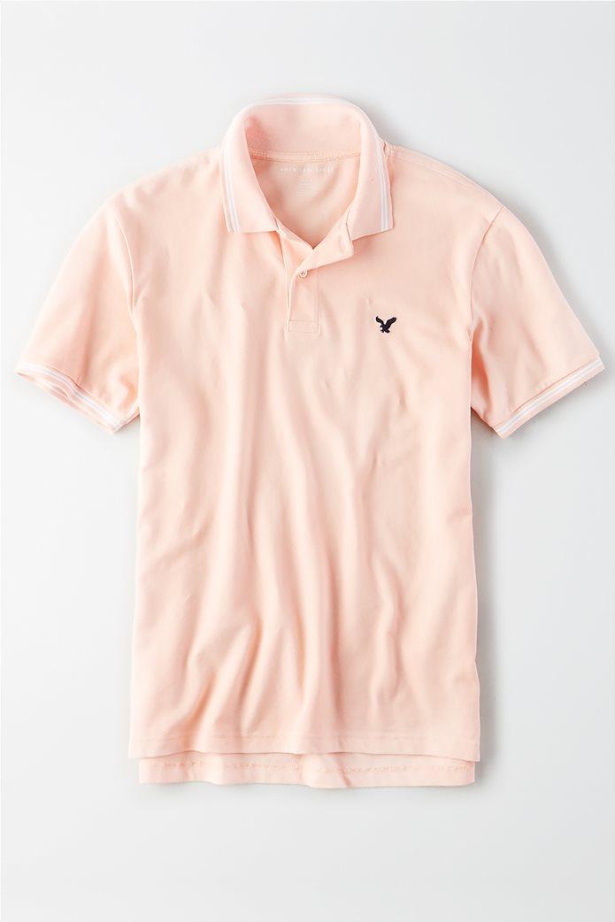 AE Logo Pique Tipped Polo Shirt 0