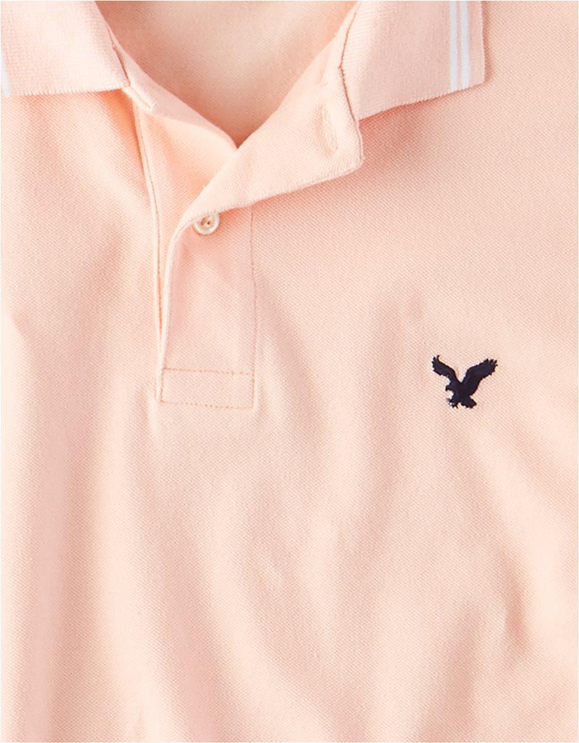 AE Logo Pique Tipped Polo Shirt 2