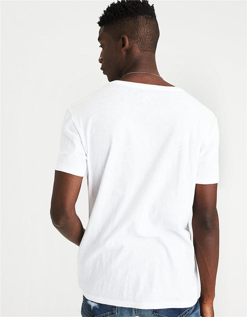 AE Logo Slub V-Neck T-Shirt 1