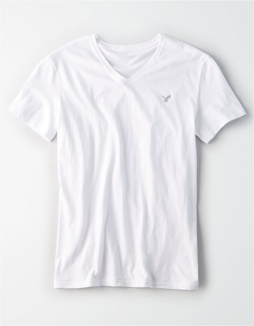 AE Logo Slub V-Neck T-Shirt 2