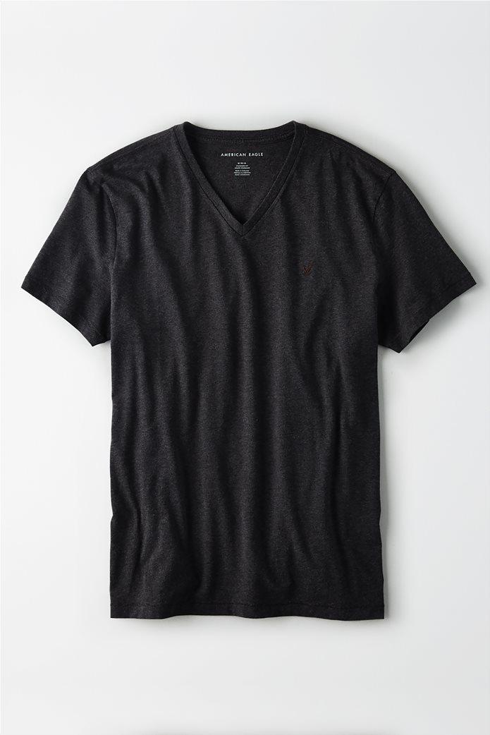 AE Logo Slub V-Neck T-Shirt 0