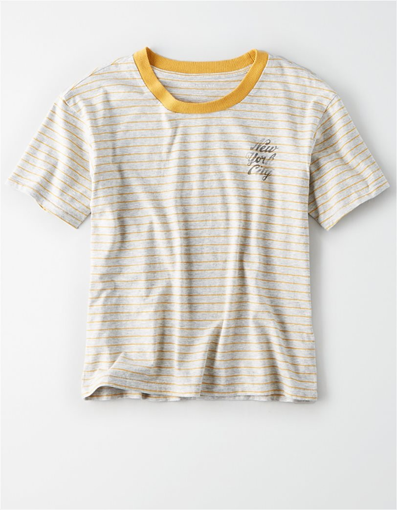 AE Striped NYC Champs Graphic T-Shirt 2