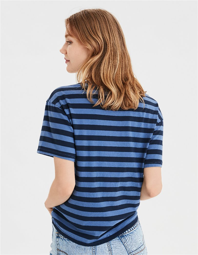 AE Striped NYC Champs Graphic T-Shirt 1