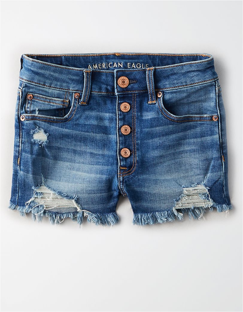 High-Waisted Short Short Μπλε 3