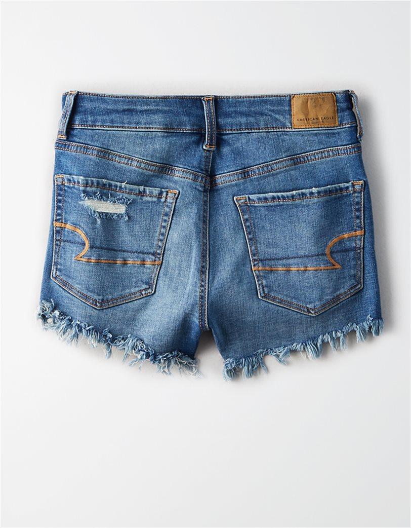 High-Waisted Short Short Μπλε 4