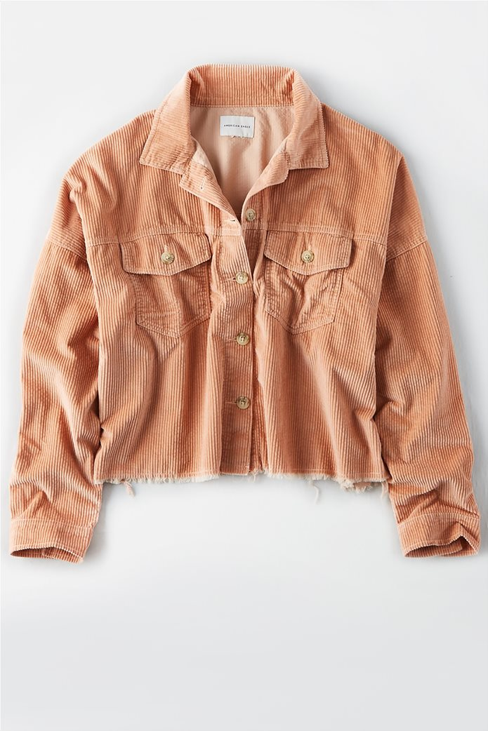 AE Corduroy Cropped Button Up Shirt 0