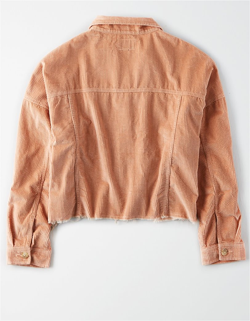 AE Corduroy Cropped Button Up Shirt 1
