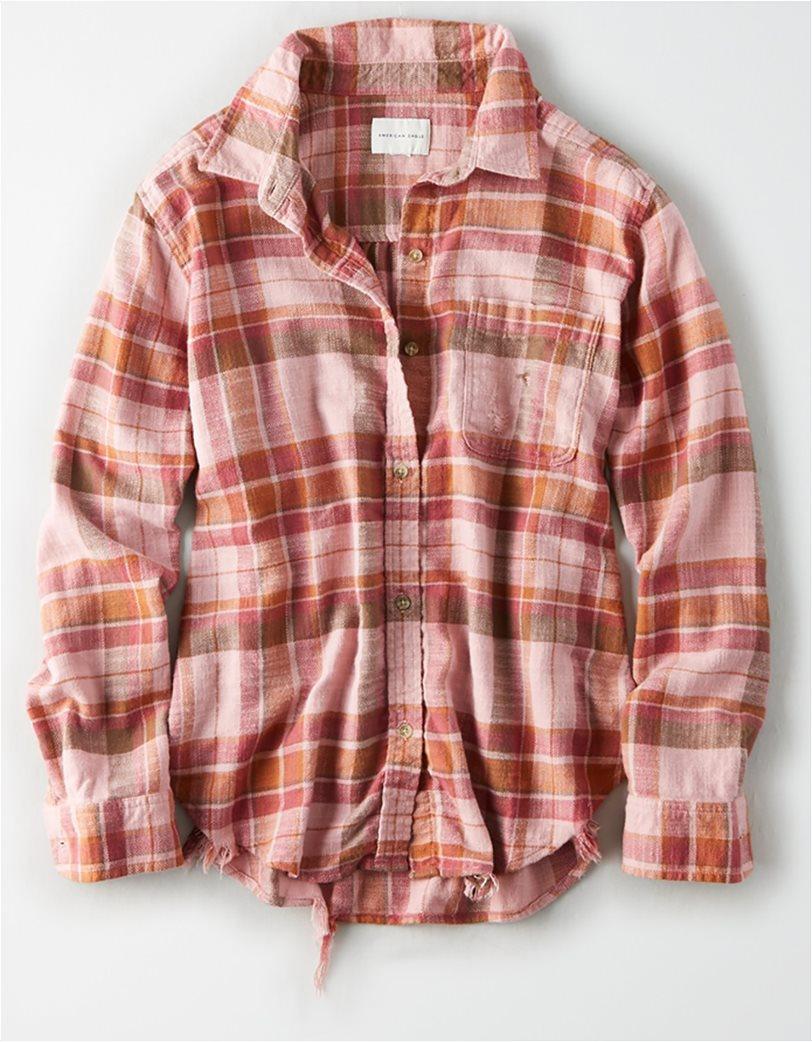 AE Plaid Oversized Button Down Shirt 2