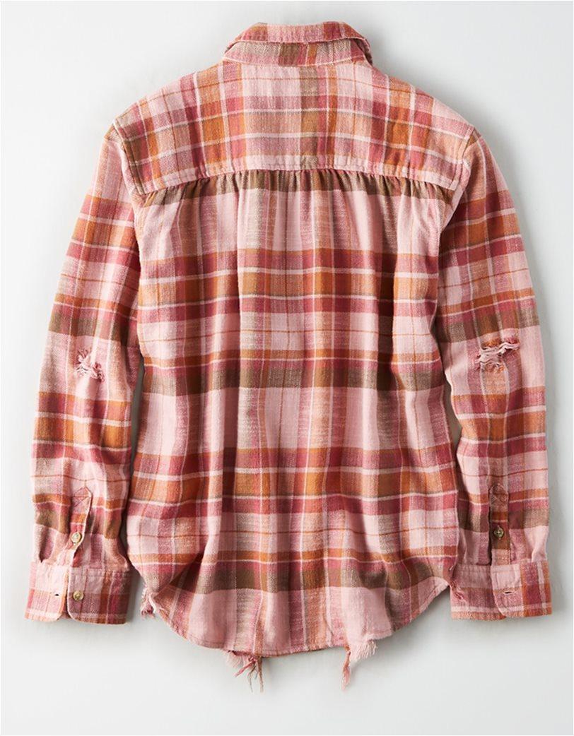 AE Plaid Oversized Button Down Shirt 3