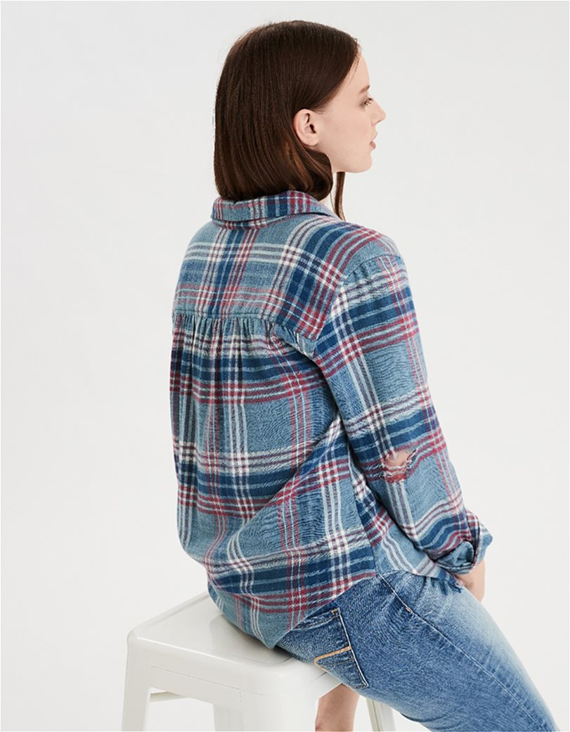 AE Plaid Oversized Button Down Shirt 1
