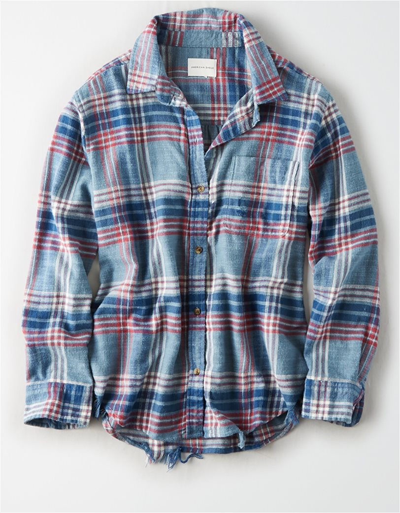 AE Plaid Oversized Button Down Shirt 2