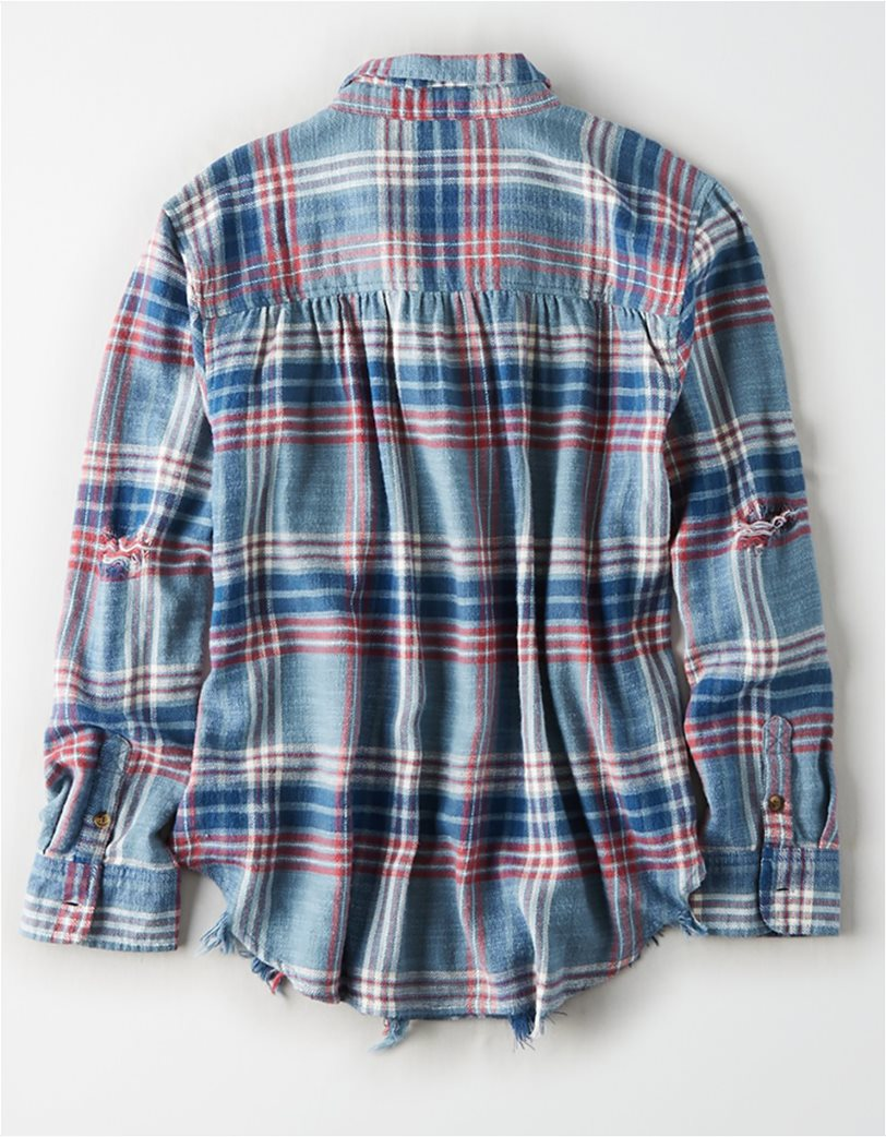 AE Plaid Oversized Button Down Shirt 3