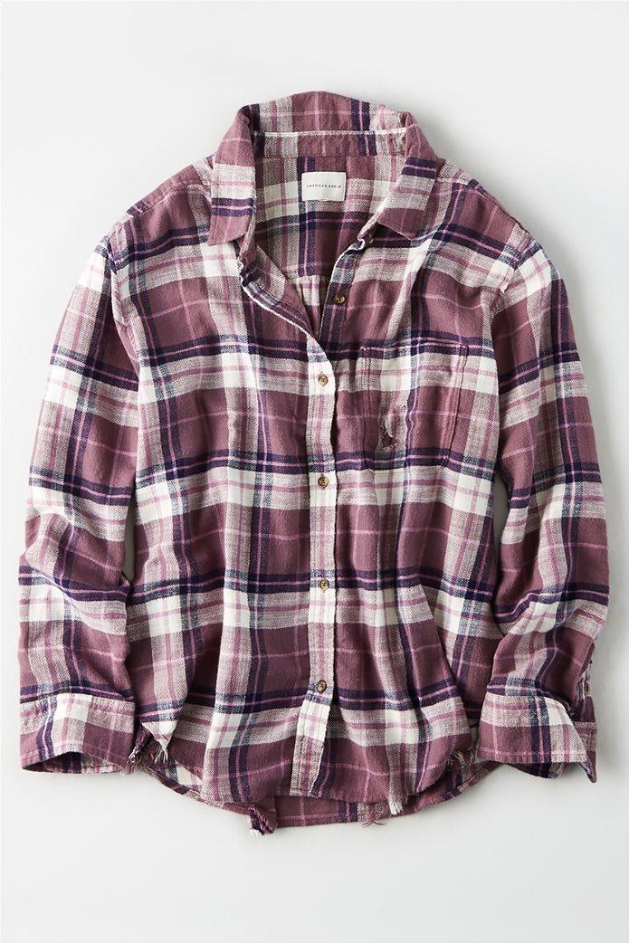 AE Plaid Oversized Button Down Shirt 0