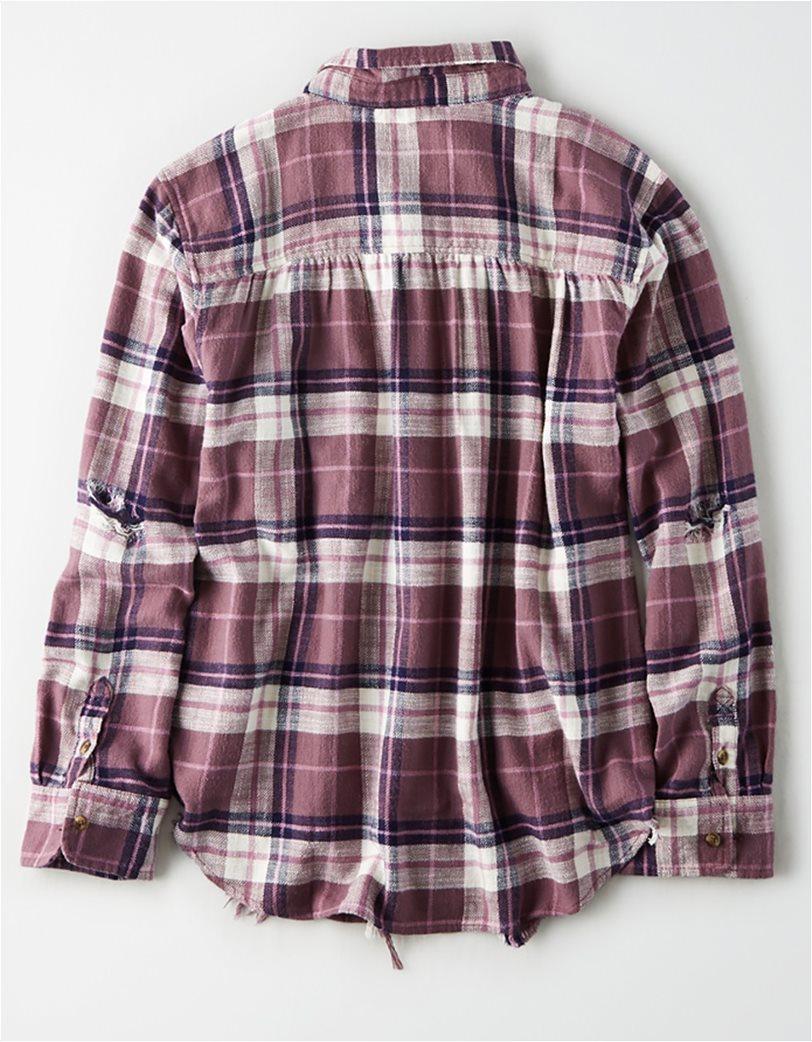 AE Plaid Oversized Button Down Shirt 1