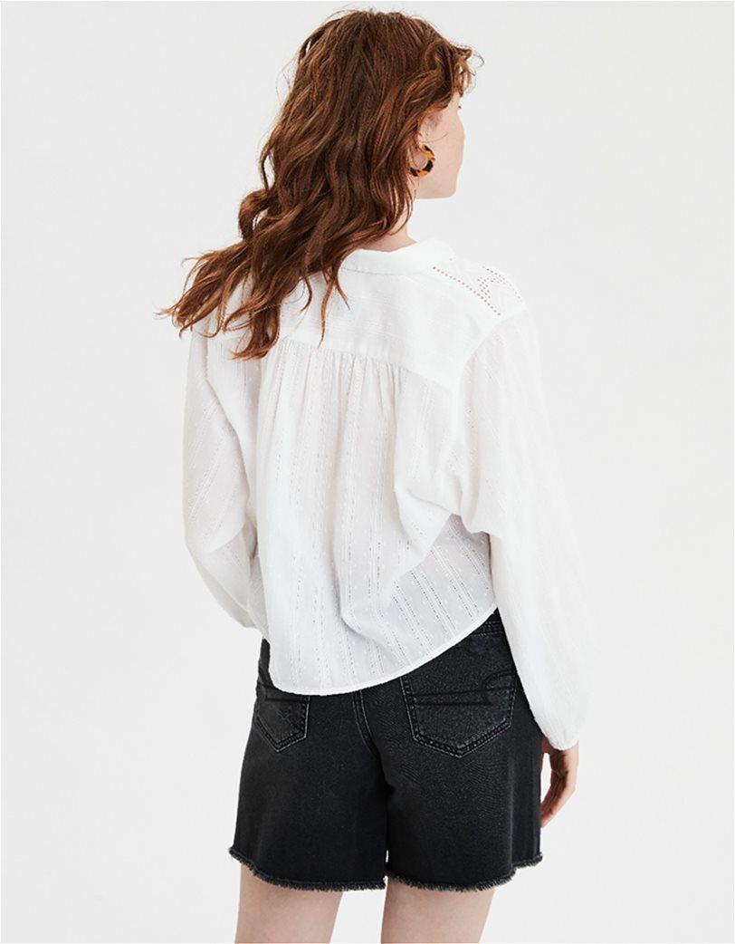 AE Lace Button Down Shirt Λευκό 1