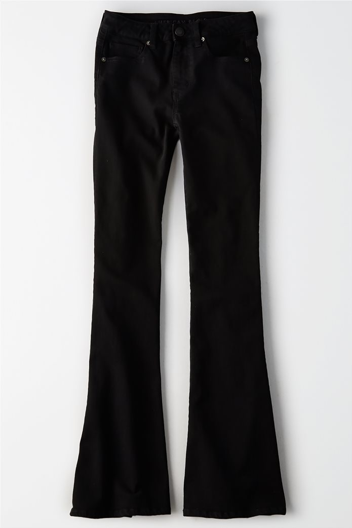 AEO Hi_Rise Slim Flare Jean - INTL Μαύρο 0