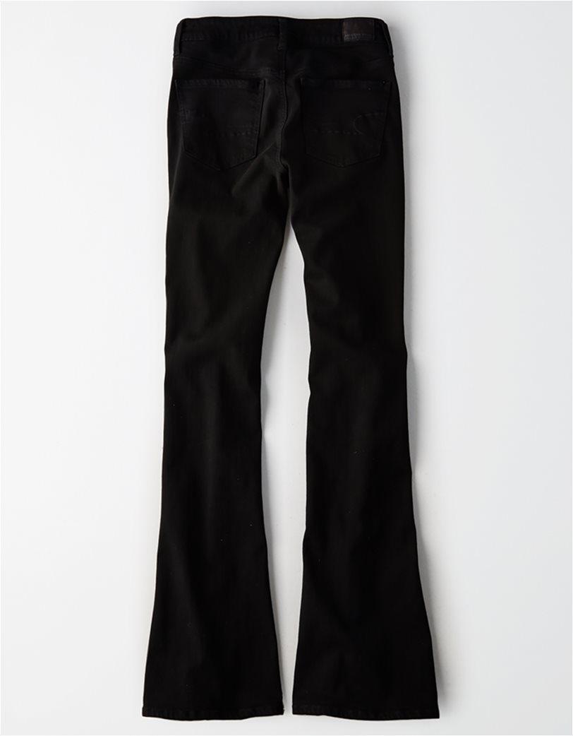 AEO Hi_Rise Slim Flare Jean - INTL Μαύρο 1