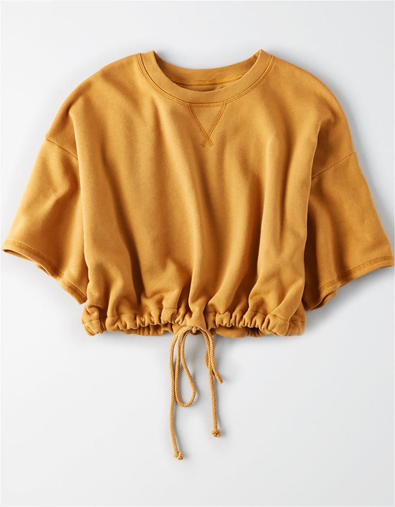 AE Short Sleeve Cropped Crew Neck Sweatshirt 2