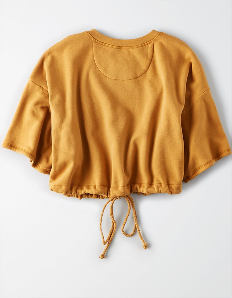 AE Short Sleeve Cropped Crew Neck Sweatshirt 3