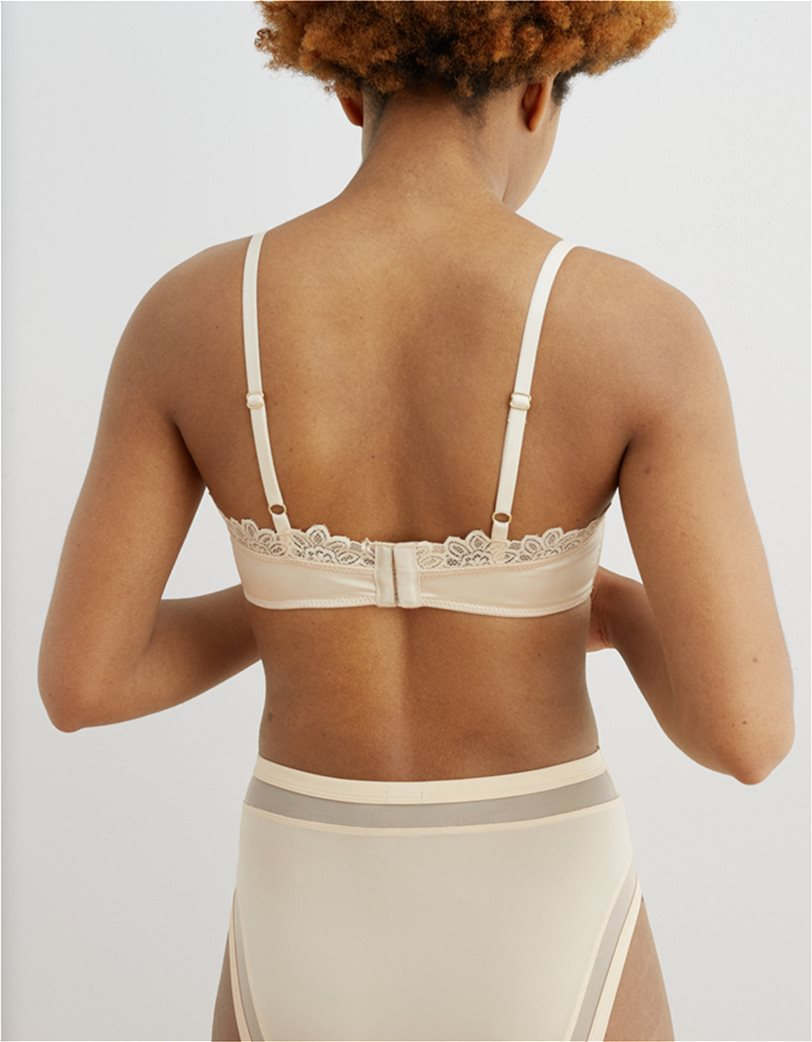 Aerie Satin Lace Trim Bralette 1