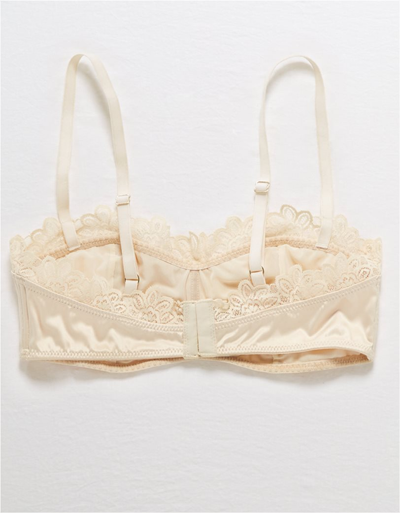 Aerie Satin Lace Trim Bralette 3