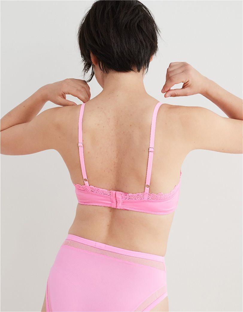 Aerie SoftestΒ® Lace Classic Bralette Ροζ 1