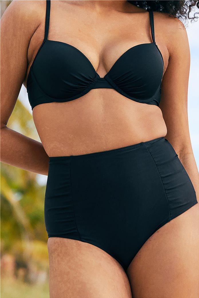 Aerie High Waisted Bikini Bottom Μαύρο 0