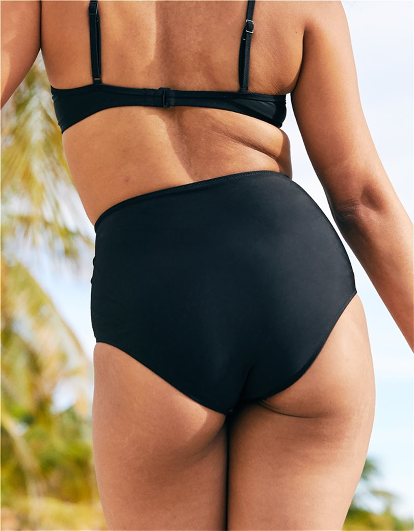 Aerie High Waisted Bikini Bottom Μαύρο 3