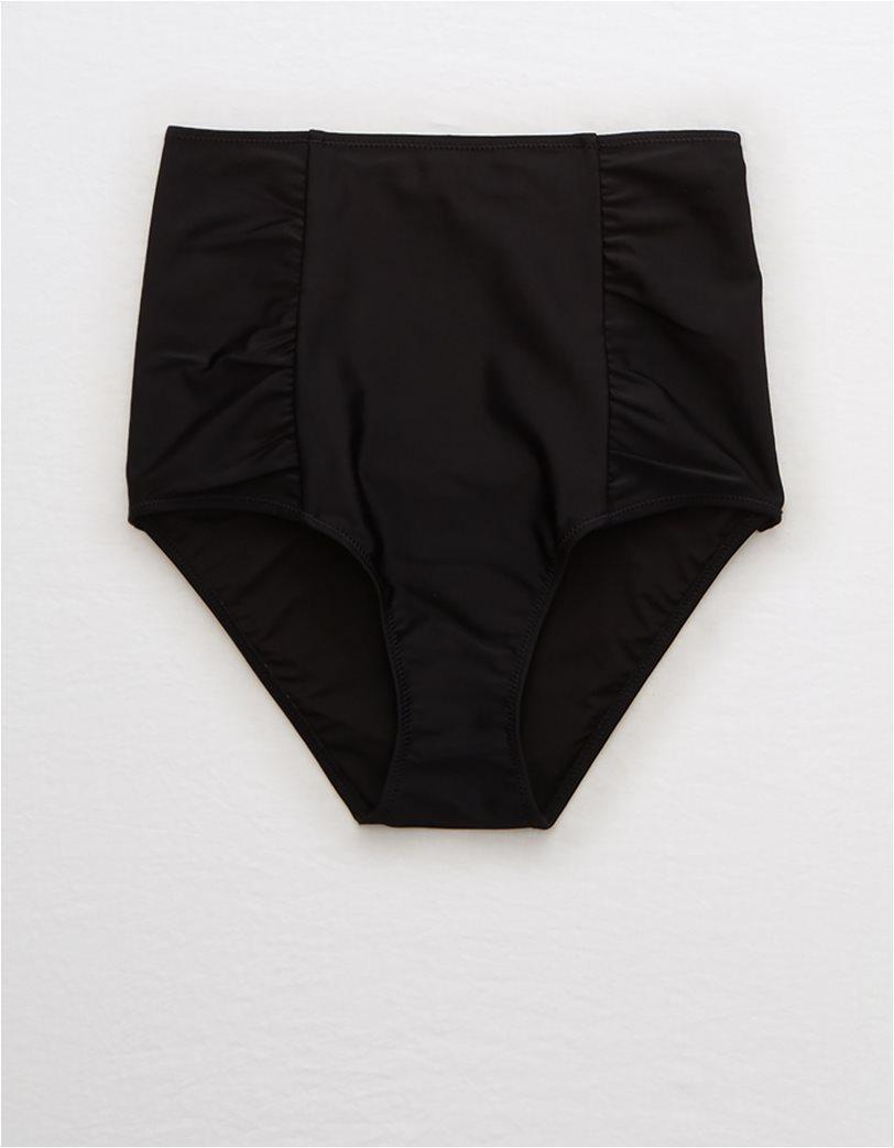 Aerie High Waisted Bikini Bottom Μαύρο 5