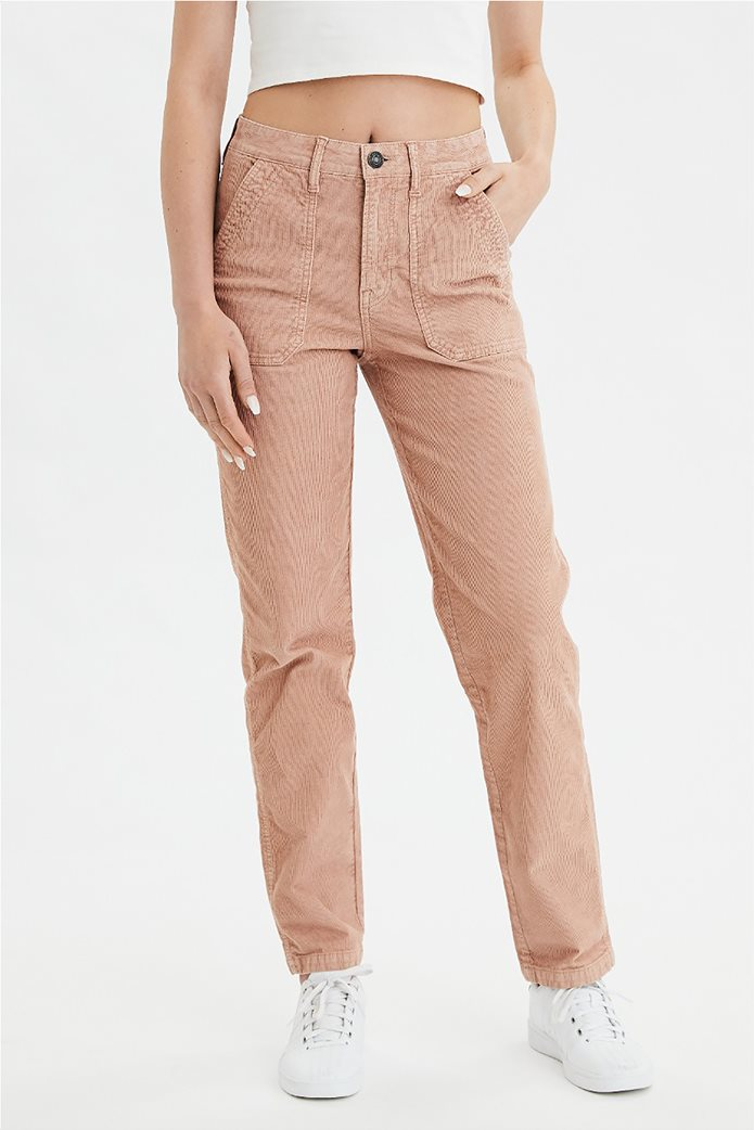High-Waisted Corduroy Utility Pant 0